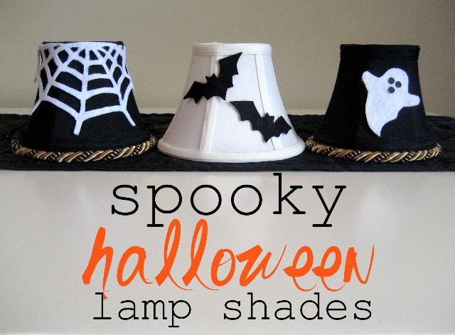 How to make halloween lamp shades aloadofball Images