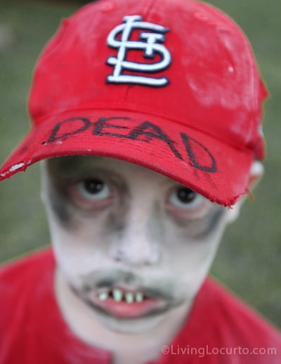 Cardinal Zombie Halloween Costume- World Series Baseball Player