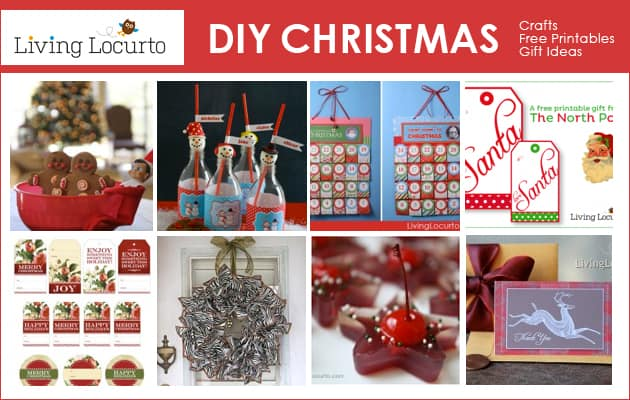 DIY Christmas Crafts, Free Printables, Recipes & Gift Ideas from LivingLocurto.com #Christmas