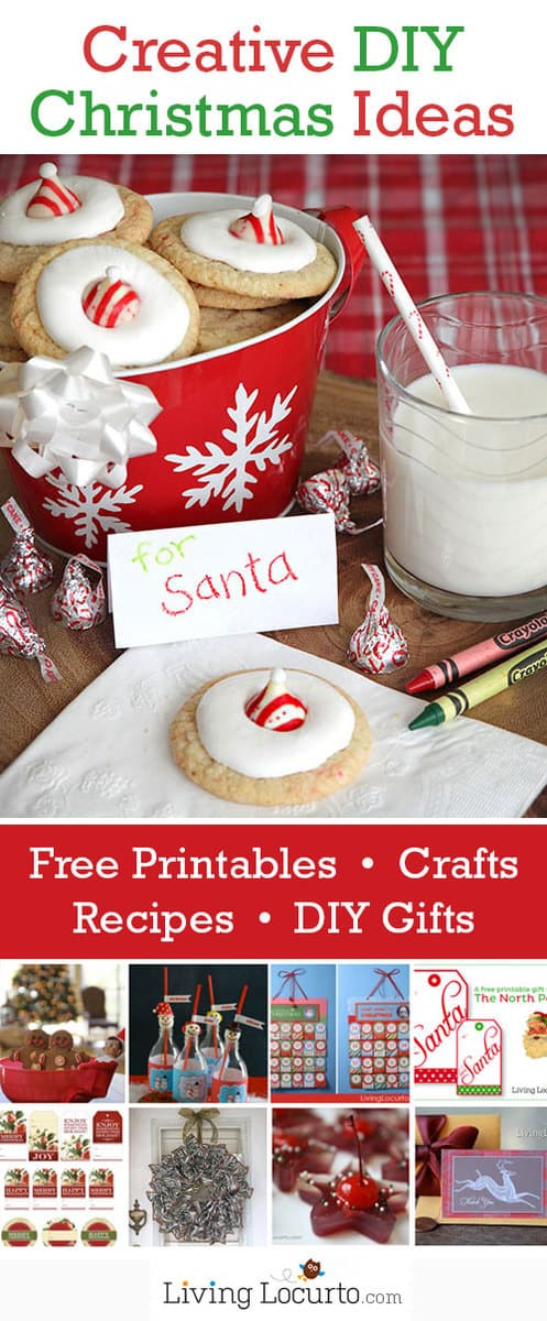 DIY Christmas Crafts, Free Printables, Recipes & Gift Ideas from LivingLocurto.com