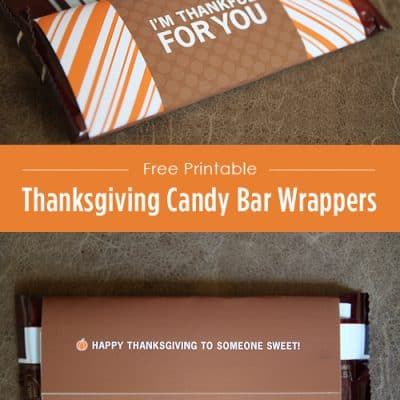 Thanksgiving Candy Bar Wrappers {Free Printable}