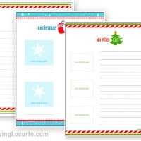 Holiday Christmas Gift Wish List Free Printable