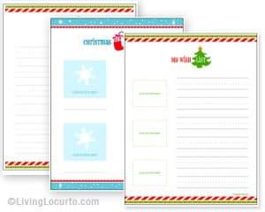 Holiday Christmas Gift Wish List Free Printable