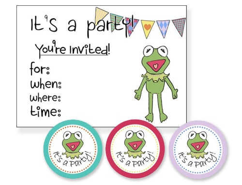 Muppets Free Party Printables - Invitation & Tags