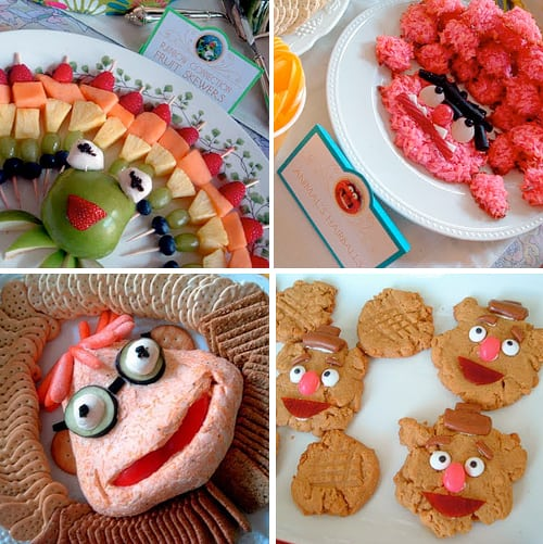The Muppets Party Fun Food Ideas - Kermit, Fozzie Cookies, Scooter Cheeseball by Alicia Policia