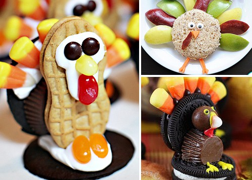 Thanksgiving FunFood Ideas! Cute Turkey Treats for Dessert or Kid's Snacks. LivingLocurto.com