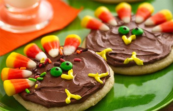 Turkey Cookies - Thanksgiving Food Ideas