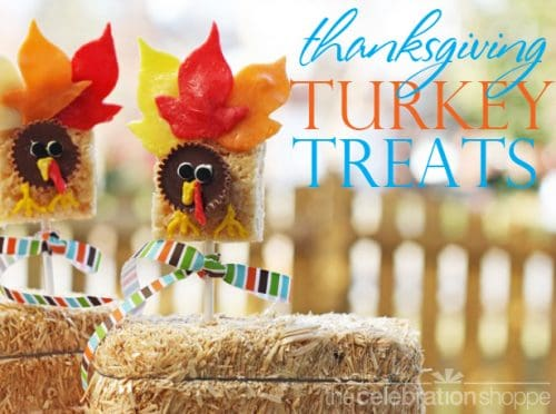 Turkey Rice Krispie treats - Thanksgiving Food Ideas