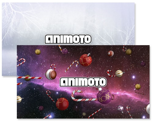 animoto holiday templates