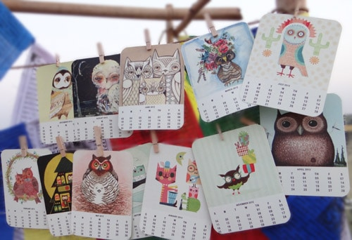 2012 Owl Calendar - Free Printable