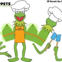 Kermit the Frog - Muppets Thanksgiving Free Printables