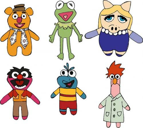 muppets free printable finger puppets