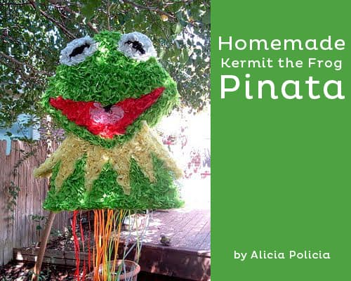 Muppets Kermit the Frog DIY party pinata