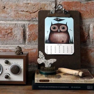 2012 Owl Lover Calendar {Free Printable}