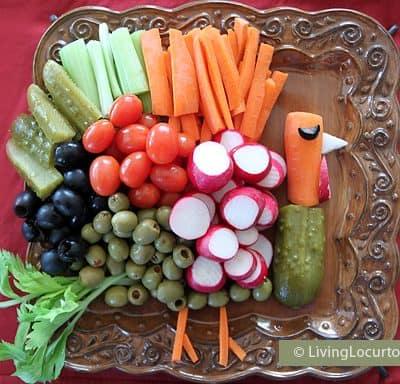 Turkey Vegetable Tray | Fun Thanksgiving Recipe Idea