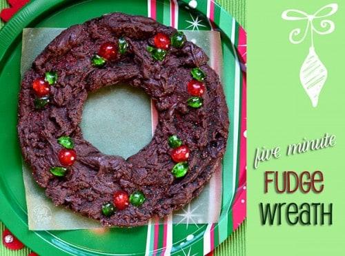 Five Minute Fudge Wreath Recipe