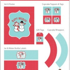 Free Party Printables - Holiday Snowman Collection