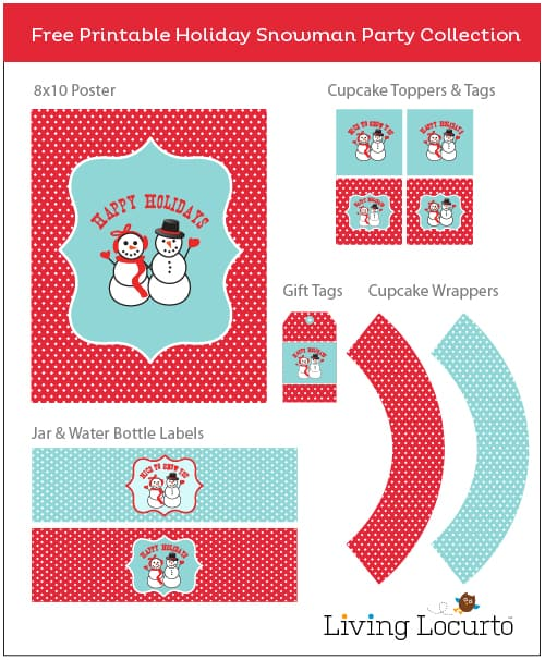 plan a holiday party with free snowman party printables gift tags and a cute craft