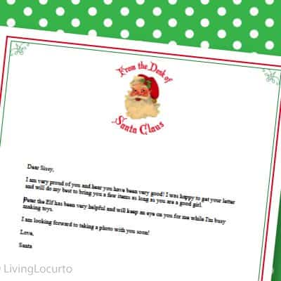 Letter From Santa – Free Printable Stationery