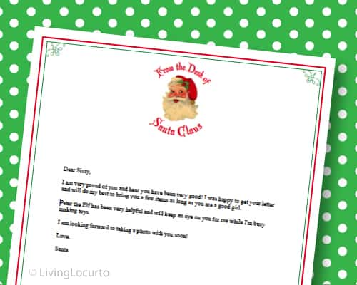 Letter from santa free printable santa stationery spiritdancerdesigns Gallery