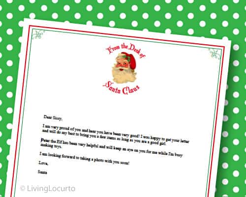 Christmas Printables - Free Santa Letter is a REAL Letter from Santa! - Free Printable Stationery