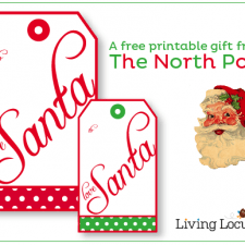 Gift Tags & Letter from Santa {Free Printables}