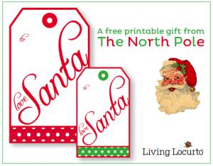 Free From Santa Gift tags