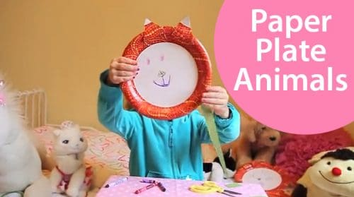 Paper Plate Animal Kids Craft with free Printable Pet Faces at LivingLocurto.com