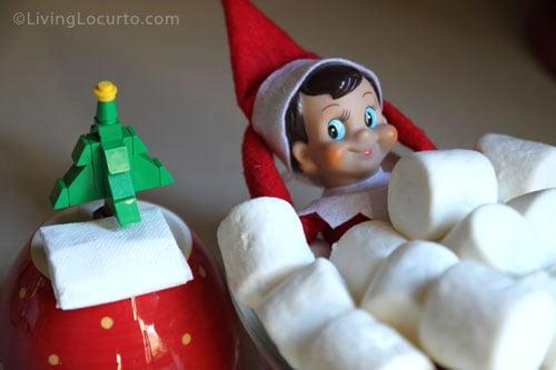 25 Elf On The Shelf Ideas! Free Printable book full of fun ideas for kids at Christmas. LivingLocurto.com