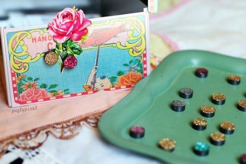 DIY glitter magnets - Party Idea