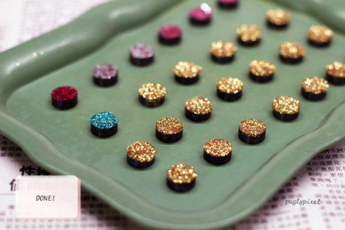 DIY glitter magnets - Party Favor Idea