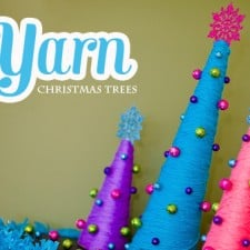 yarn christmas tree diy craft