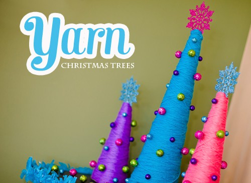 Yarn Christmas Trees - DIY Craft