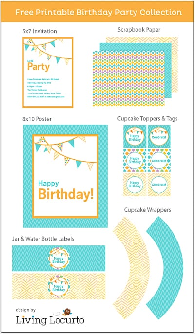 Free Party Printables - Birthday Invitations