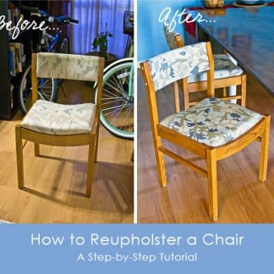 How to Reupholster a Chair {Step-by-Step Photo Tutorial}