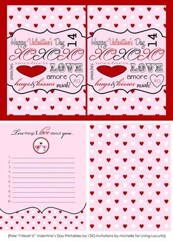 Free Printable Valentine Cards  Love Notes  Living Locurto