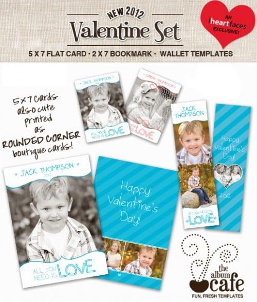 Free Valentine Photoshop Templates