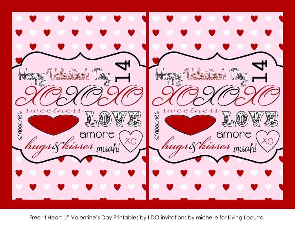 Free Printable Valentine Cards Love Notes Living Locurto – Valentines Cards Print