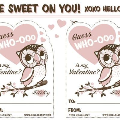 Sweet Free Printables for Valentines Day