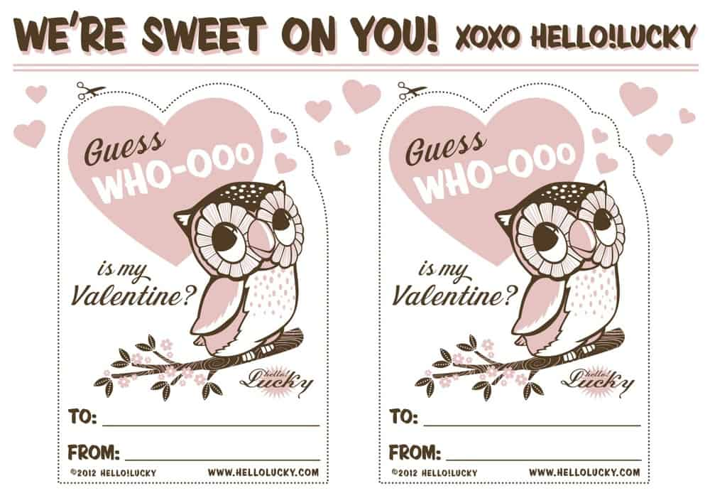 sweet free printables for valentines day living locurto