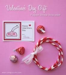 Paper Straw Bracelet & Free Printable Valentine