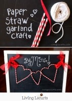 Paper Straw Heart Garland – Valentine's Day DIY Craft