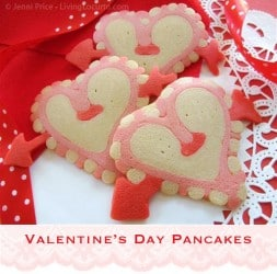 Valentines Day Heart Pancakes Tutorial - Free Printable Instructions