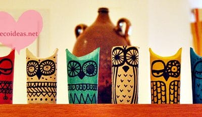 DIY Owls – Toilet Paper Roll Crafts