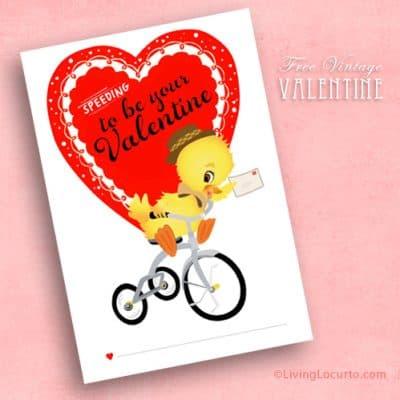 Free Printable Vintage Valentine Card