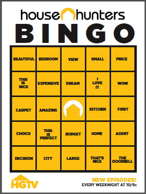 House Hunters Bingo