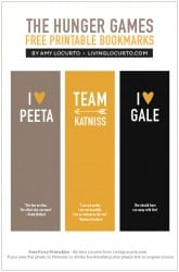 The Hunger Games Free Bookmarks