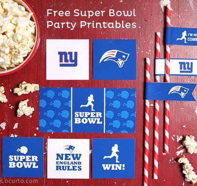 Super Bowl Party Free Printables