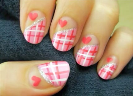 How to paint Valentines Day Nails