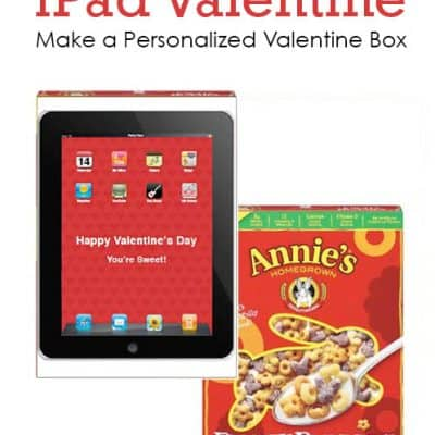 Free Printable iPad Valentine Card Holder